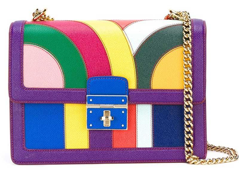 Borsa a spalla colorata Dolce & Gabbana Rosalia 2015