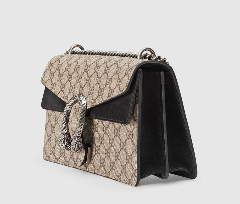 d4d3e77f87 Completamente realizzata in Italia, la borsa Gucci Dionysus GG può essere  vostra per circa 1860 euro.