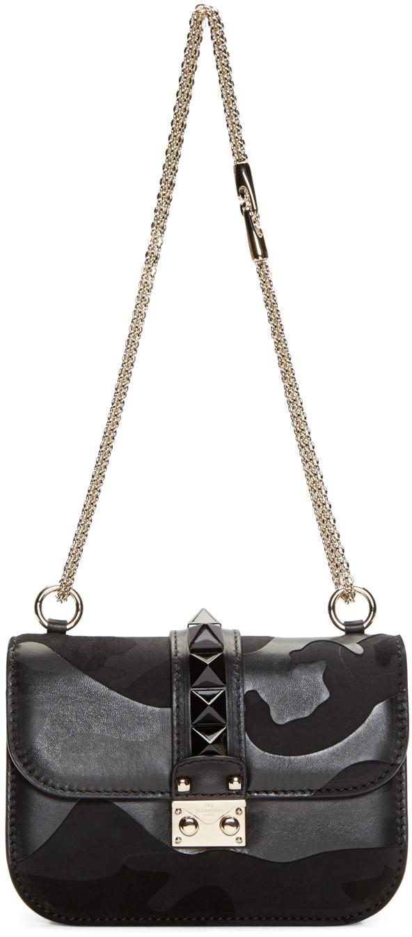Borsa a tracolla piccola con borchie Valentino Rockstud Small Lock