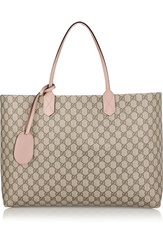 Borsa shopper gucci in pelle gg revesibile 2015 prezzo e for Zalando borse prada