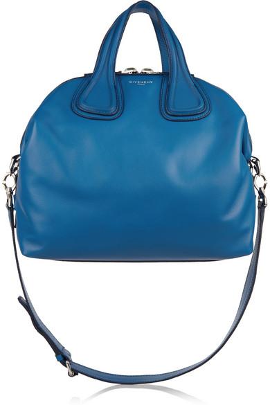 Borsa a in pelle blu cobalto givenchymedium nightingale for Amazon borse firmate