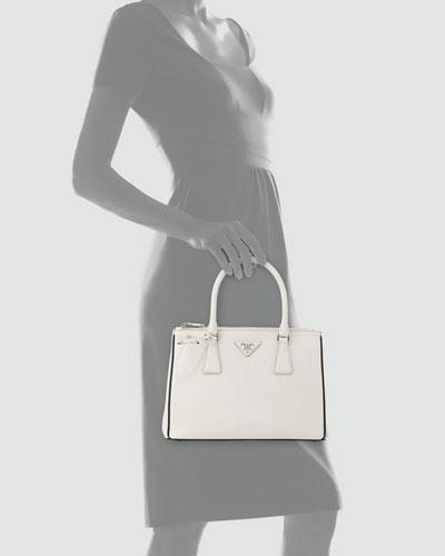 prada galleria bag - Saffiano Lux con doppia zip - Prada - 2015 Prezzo e dimensione ...