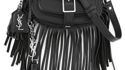 Mini borsa tracolla con frange Saint Laurent