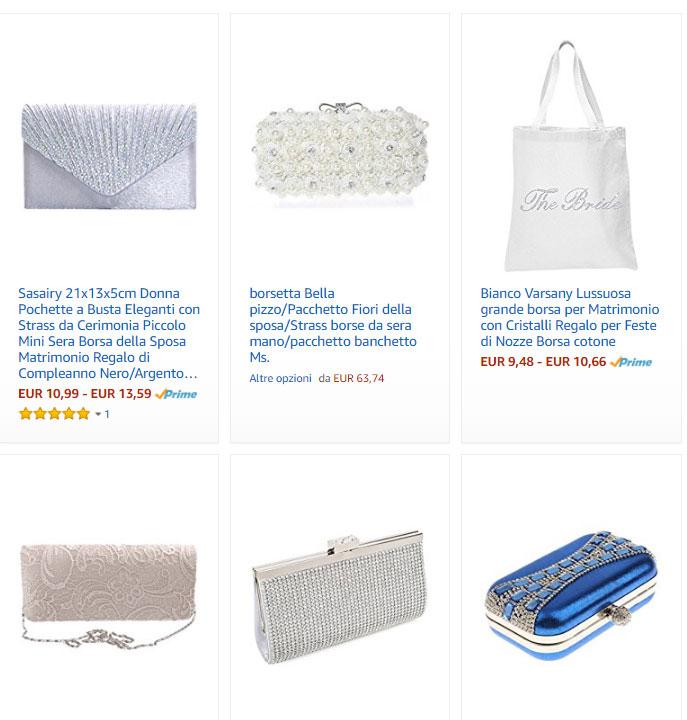 metà fuori 12671 01d2c Borse da sposa: online e su Amazon le proposte più belle per ...