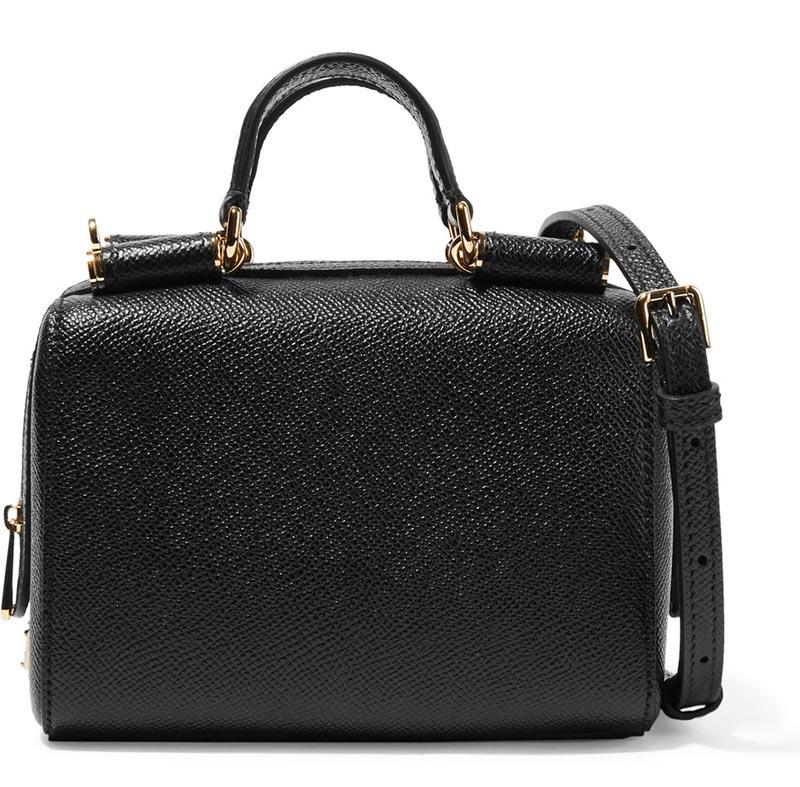 Borsa tracolla in nera pelle stampata – Dolce & Gabbana – 2016