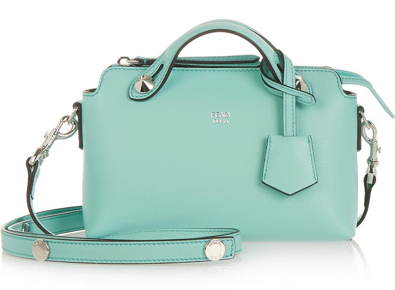 Borsa in pelle a tracolla verde Fendi By The Way 2016