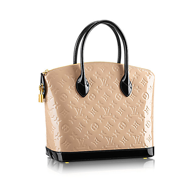Borsa Monogramme in vernice Louis Vuitton Lockit PM 2015