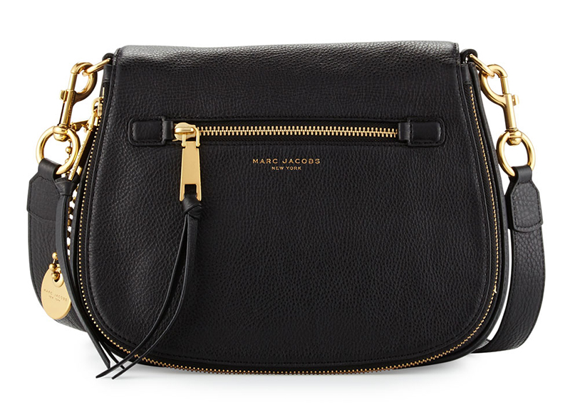 10c047034f Borsa tracolla in pelle nera Marc Jacobs Recruit Leather Saddle 2016 ...
