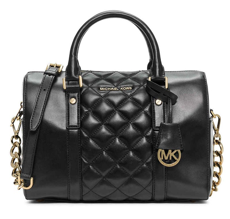 Borsa a mano nera michael kors grayson quilted medium for Zalando borse prada