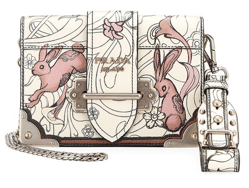 Borsa a spalla Glace Rabbit Prada