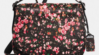 Borsa a tracolla a fiori Saddle Bag Coach