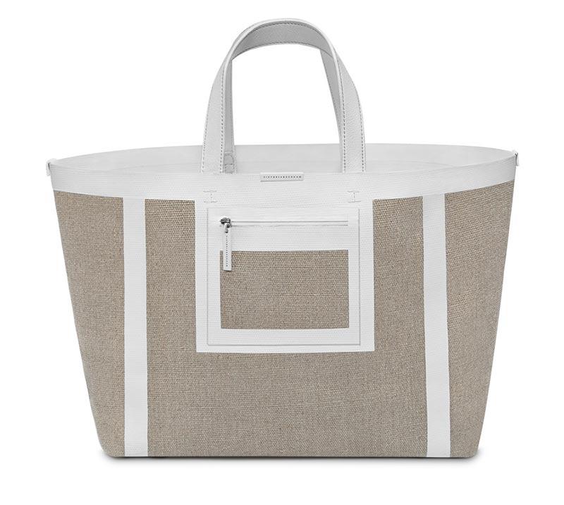 Shopper Bag effetto canvas in tessuto Victoria BeckhamSimple Shopper 2015